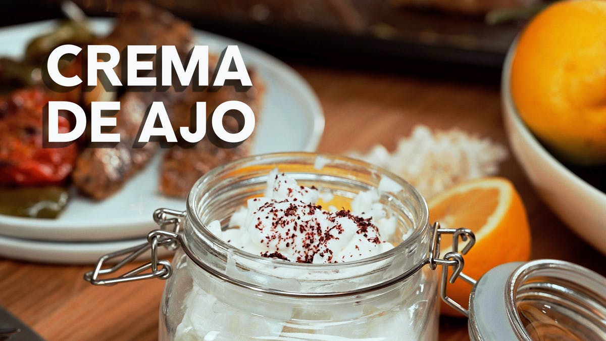 Crema de ajo, receta en video