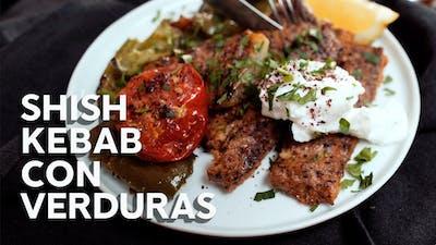 Shish kebab con verduras, receta en video