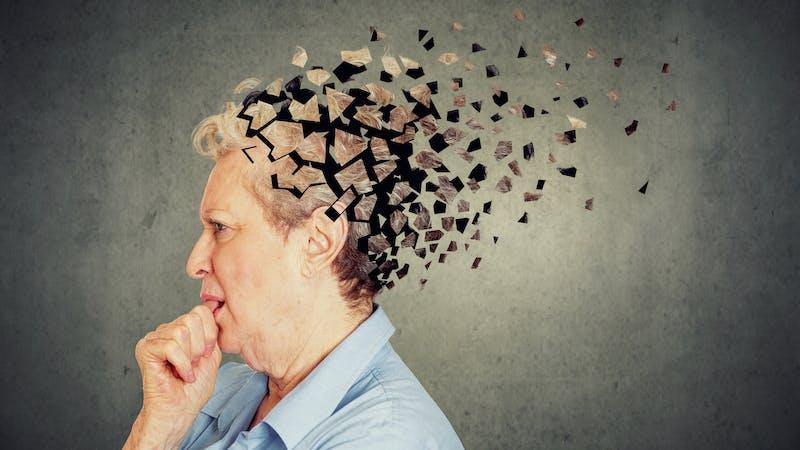 Representación de pérdida de memoria