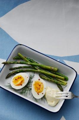 Huevos cocidos con mayonesa<br />(Desayuno)