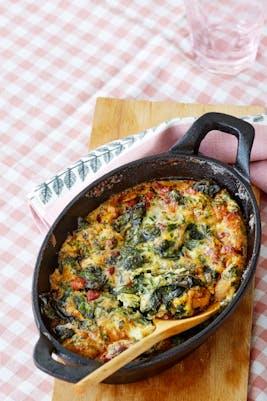 Omelet asada de tocino <br />(Desayuno)
