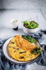 Omelette keto con champiñones