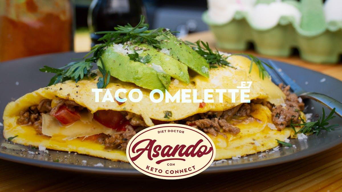 Taco omelette, Asando con KetoConnect