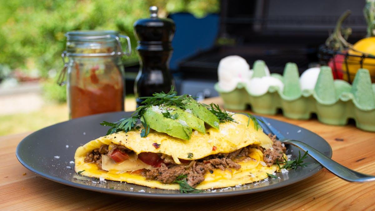 Taco omelette keto