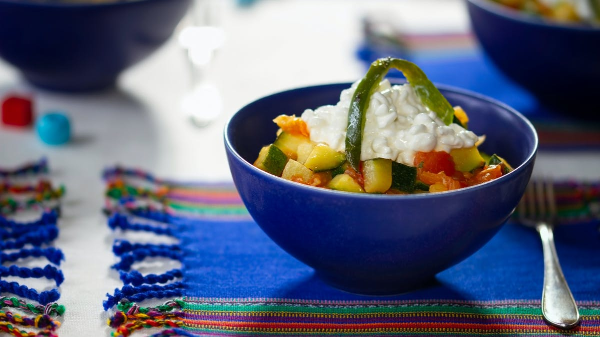 Calabacitas a la mexicana low carb