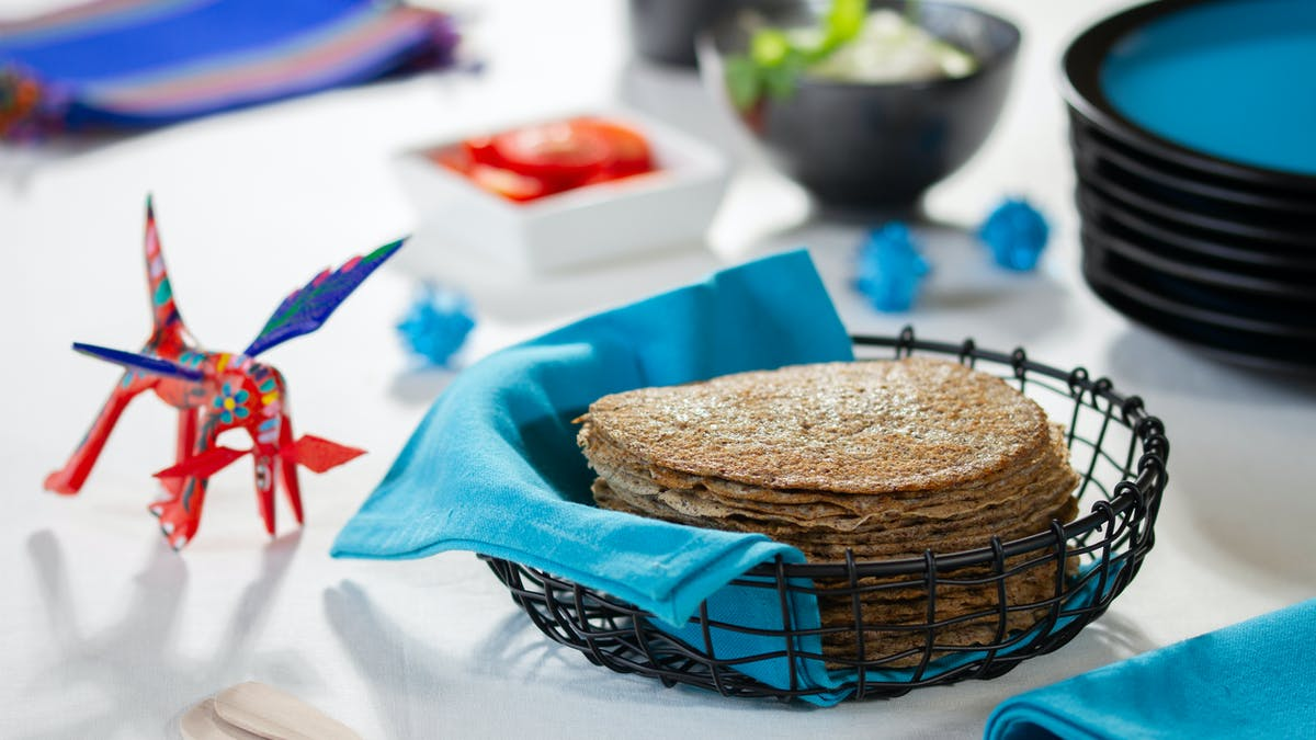 Tortillas de linaza cetogénicas