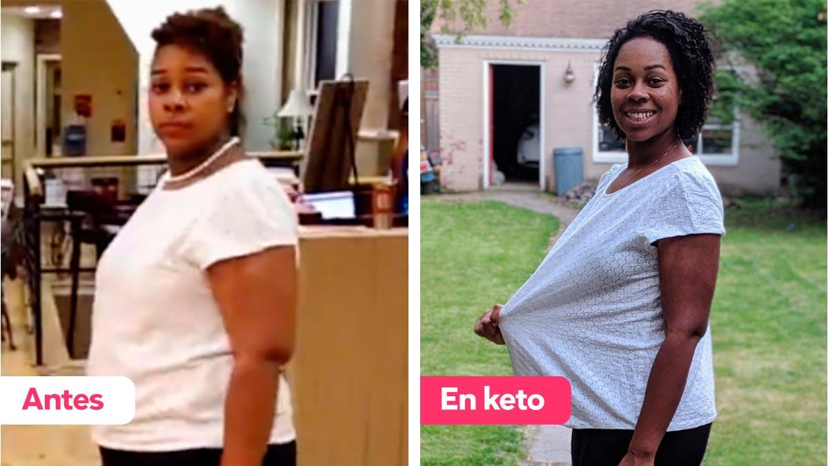 Cómo Tanisha hizo la dieta keto sin complicarase y bajó 36 kg en 8 meses