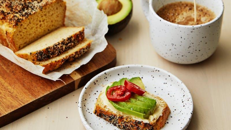 Pan keto sin frutos secos