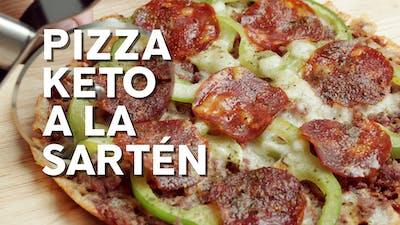 Pizza keto a la sartén