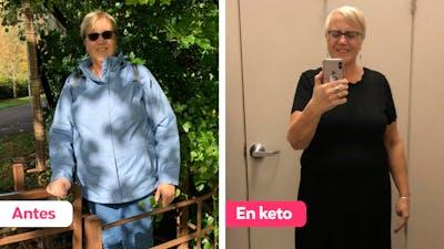 """Historia de éxito keto: """"Me compré un vestido para celebrarlo"""""""