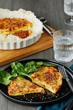 Omelet keto al estilo pizza
