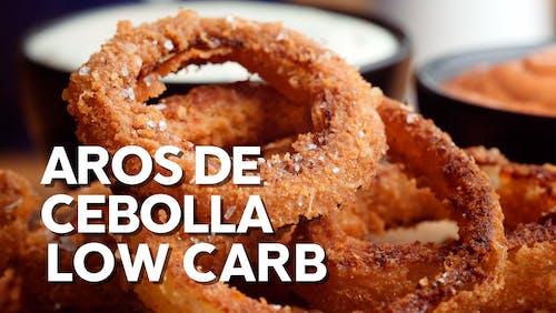 Aros de cebolla low carb
