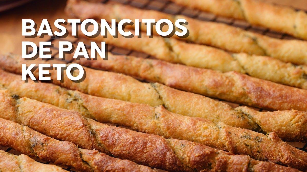 Nueva receta con video: Bastoncitos de pan keto