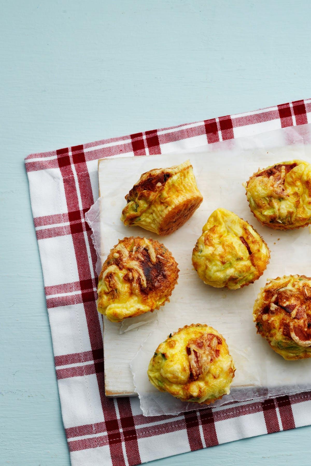 Muffins de huevo keto