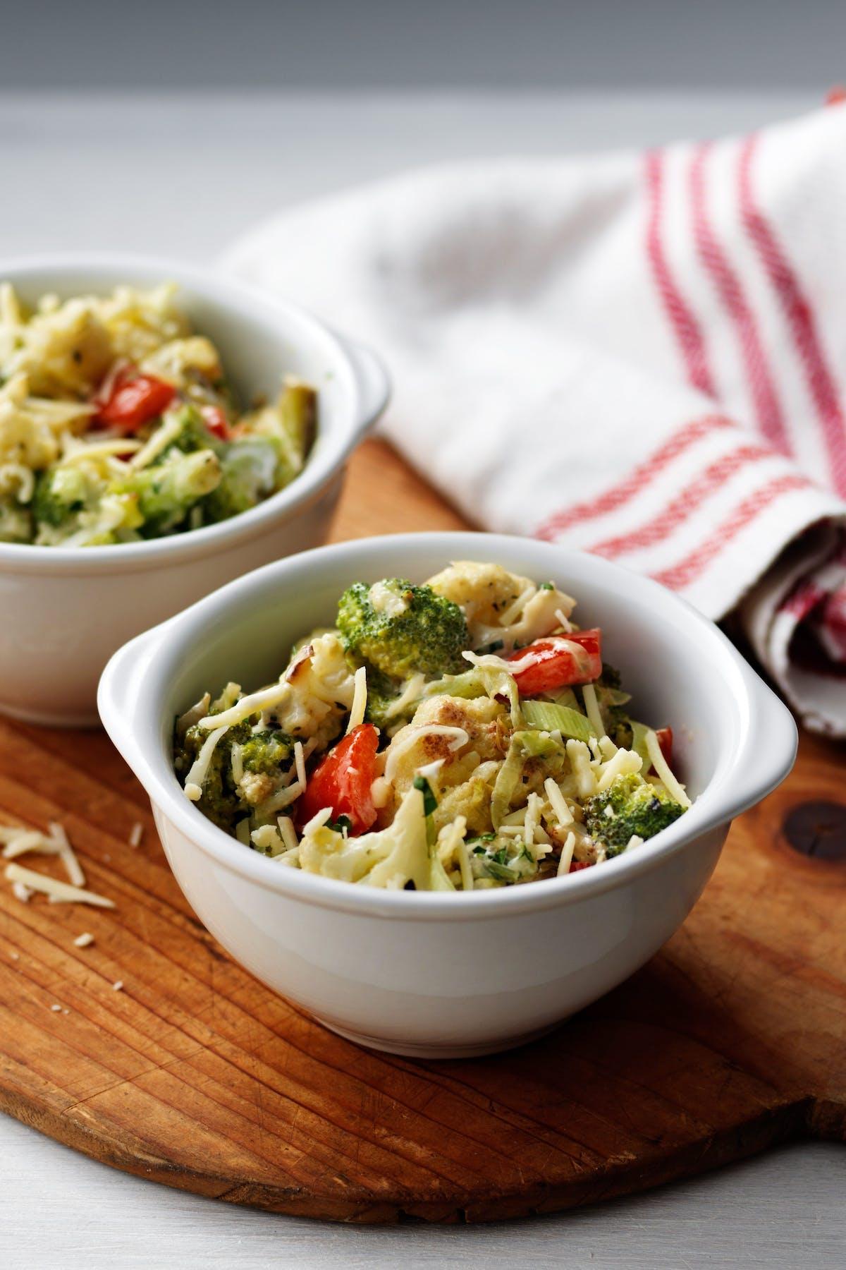 Brócoli y coliflor con queso