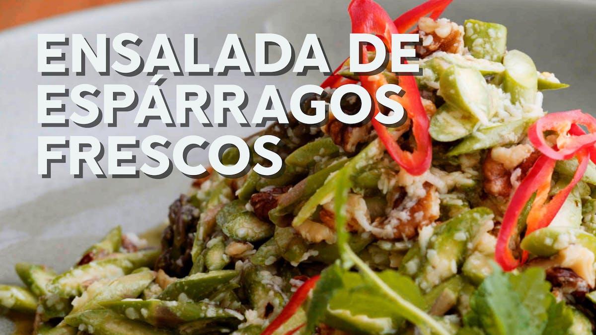 Nuevo video para nuestra receta de ensalada de espárragos