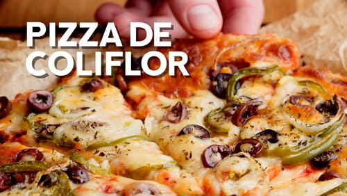 Pizza con masa de coliflor