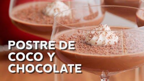 Postre de coco y chocolate low carb