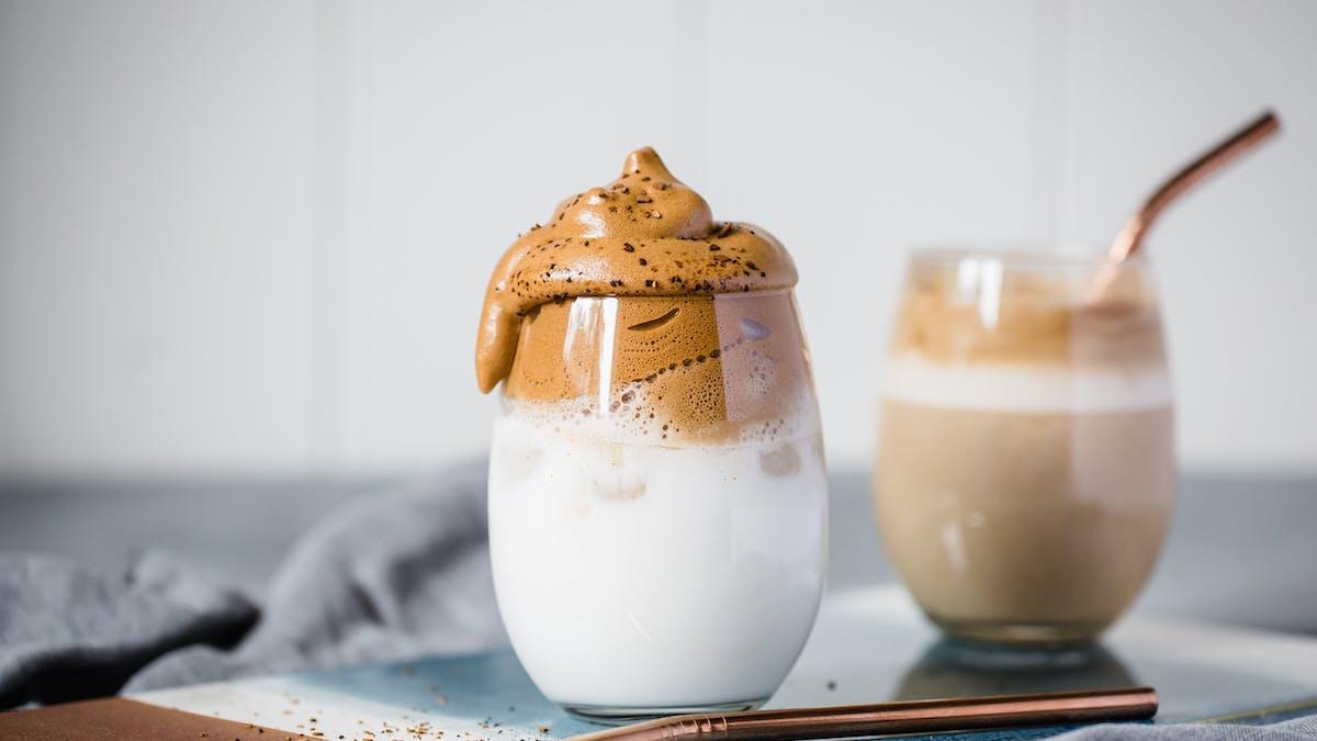 Café batido sin lácteos
