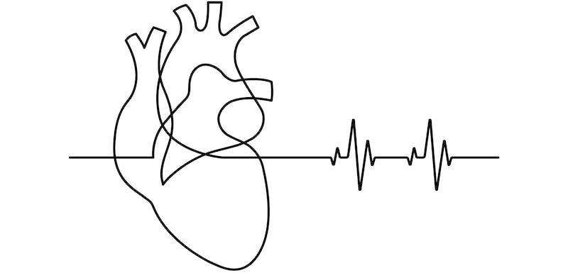 Dibujo de un corazón latiendo