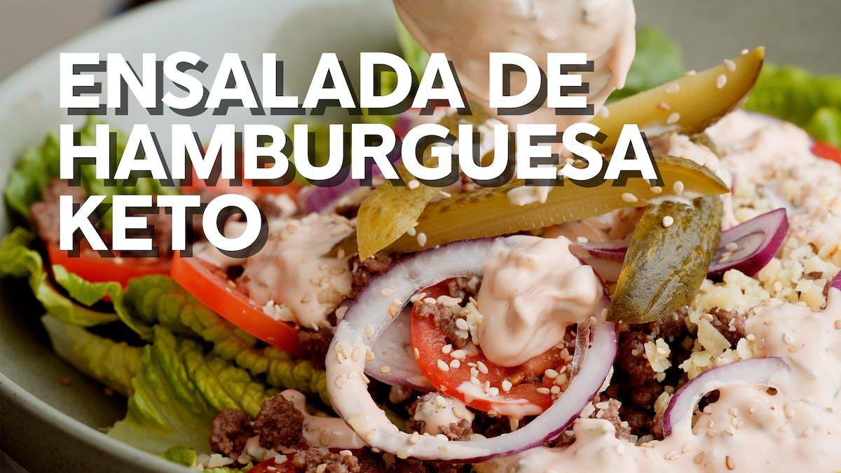 Ensalada keto de hamburguesa: nueva receta con vídeo