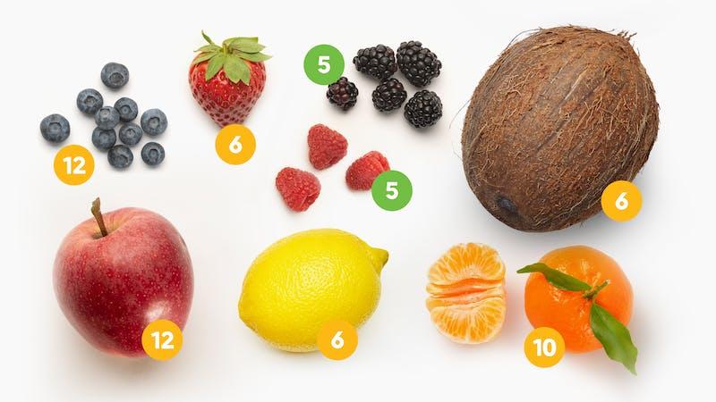 Frutas y bayas en la dieta cetogénica