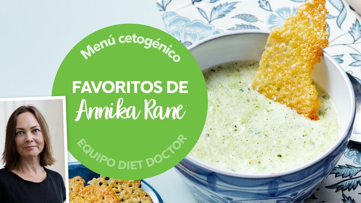 Menú keto semanal: favoritos de Annika Rane