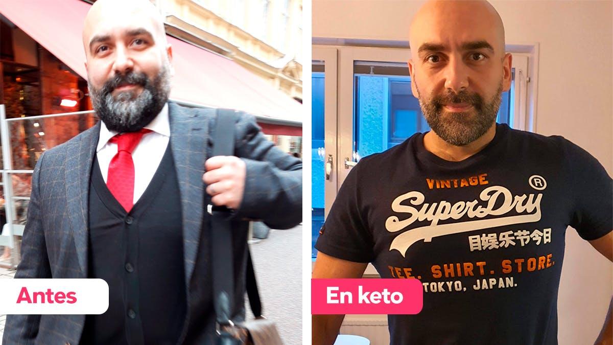 Ali dice que su familia y él se sienten mucho mejor con la dieta keto