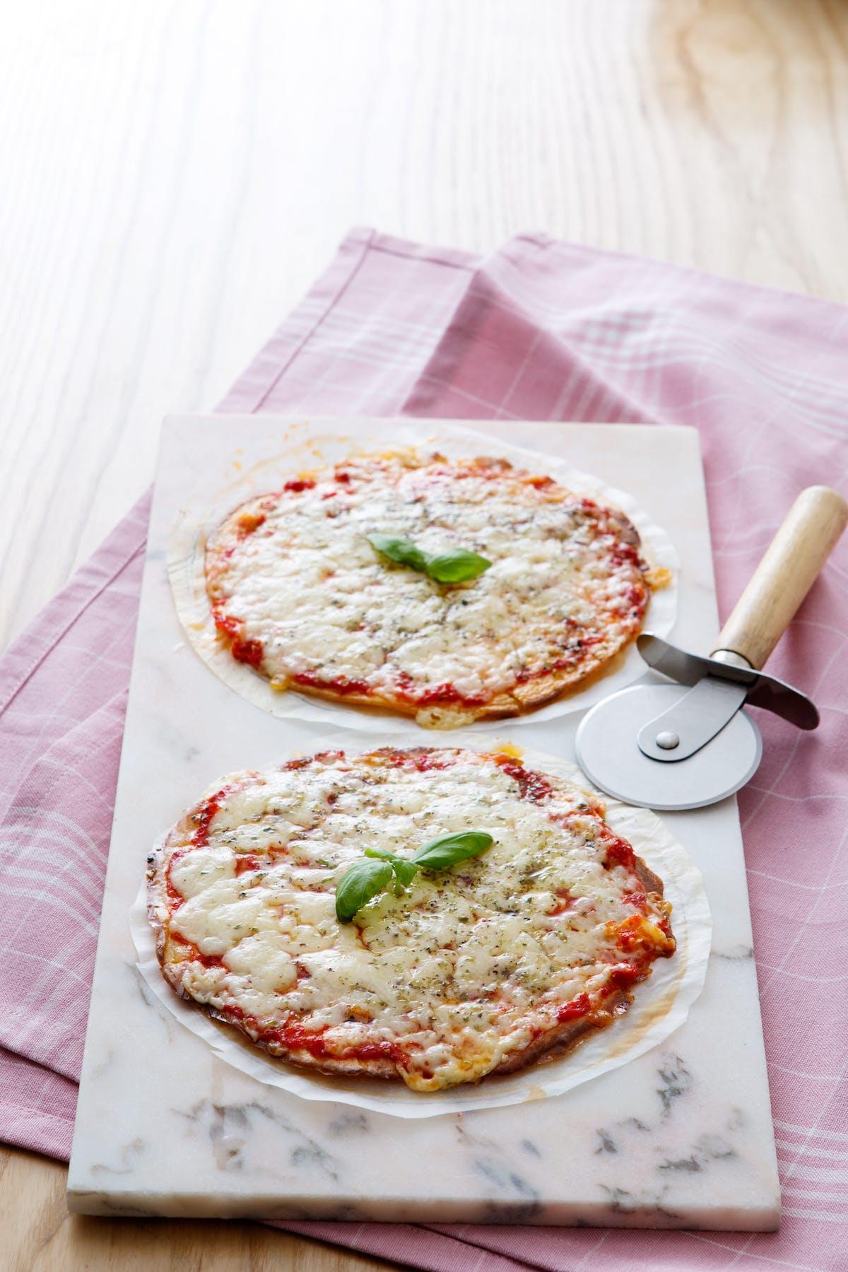 Tortillas pizza bajas en carbohidratos