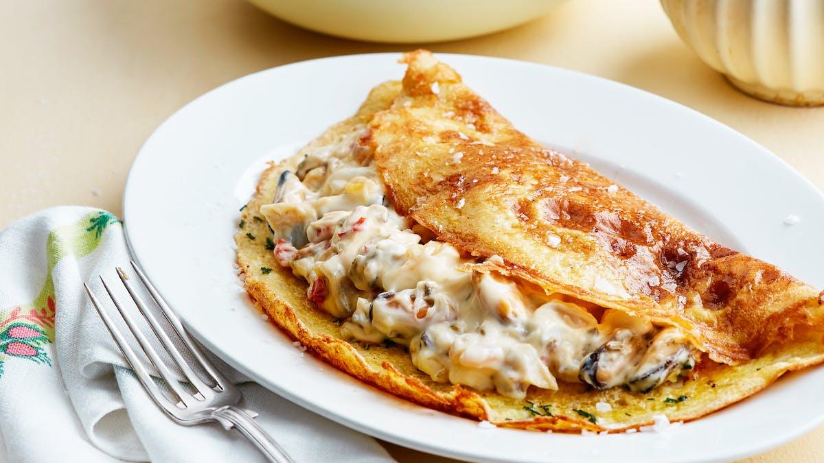 Omelette keto de mariscos