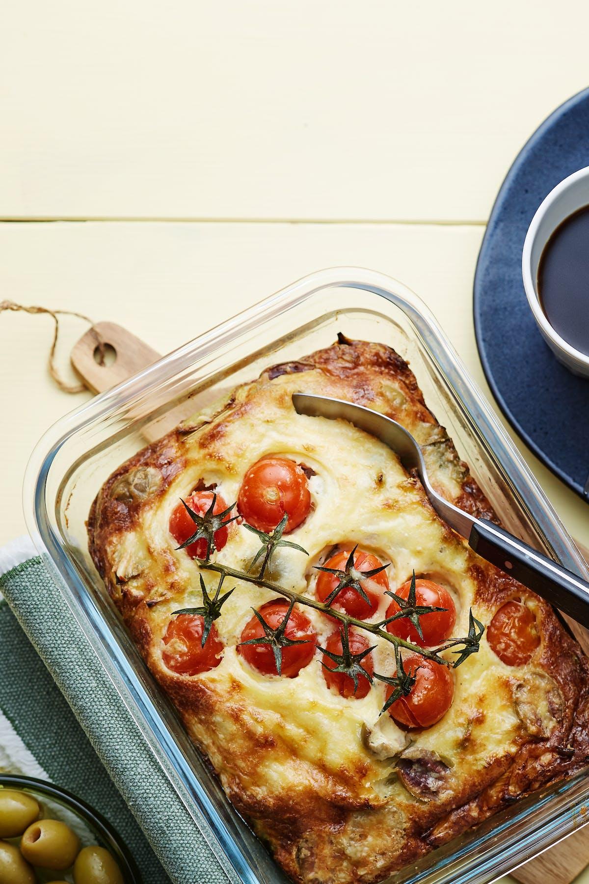 Cazuela keto y vegetariana de desayuno