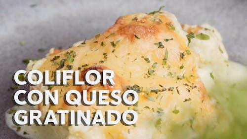 Coliflor con queso gratinado