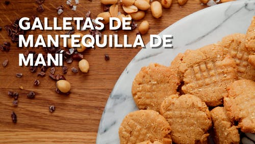 Galletas de mantequilla de maní low-carb