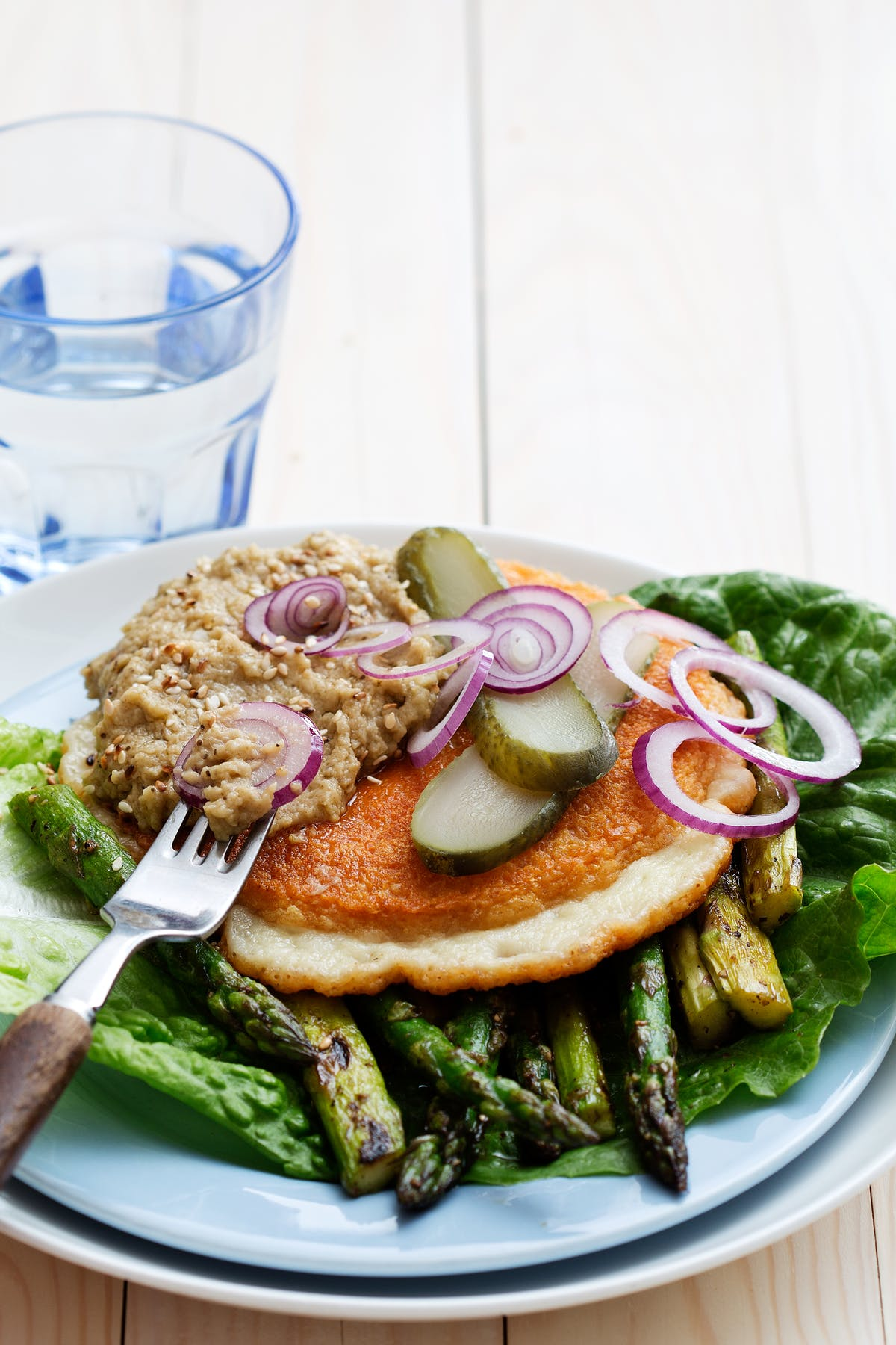 Hamburguesa de queso vegetariana y low carb