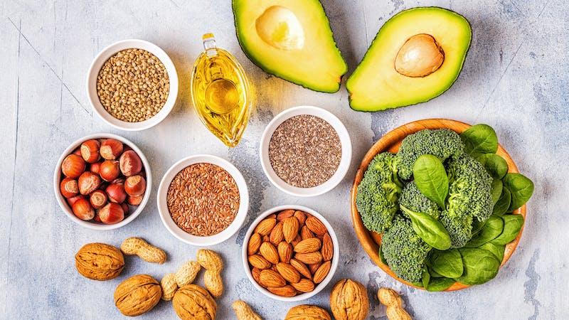 Alimentos altos en fibra y bajos en carbohidratos