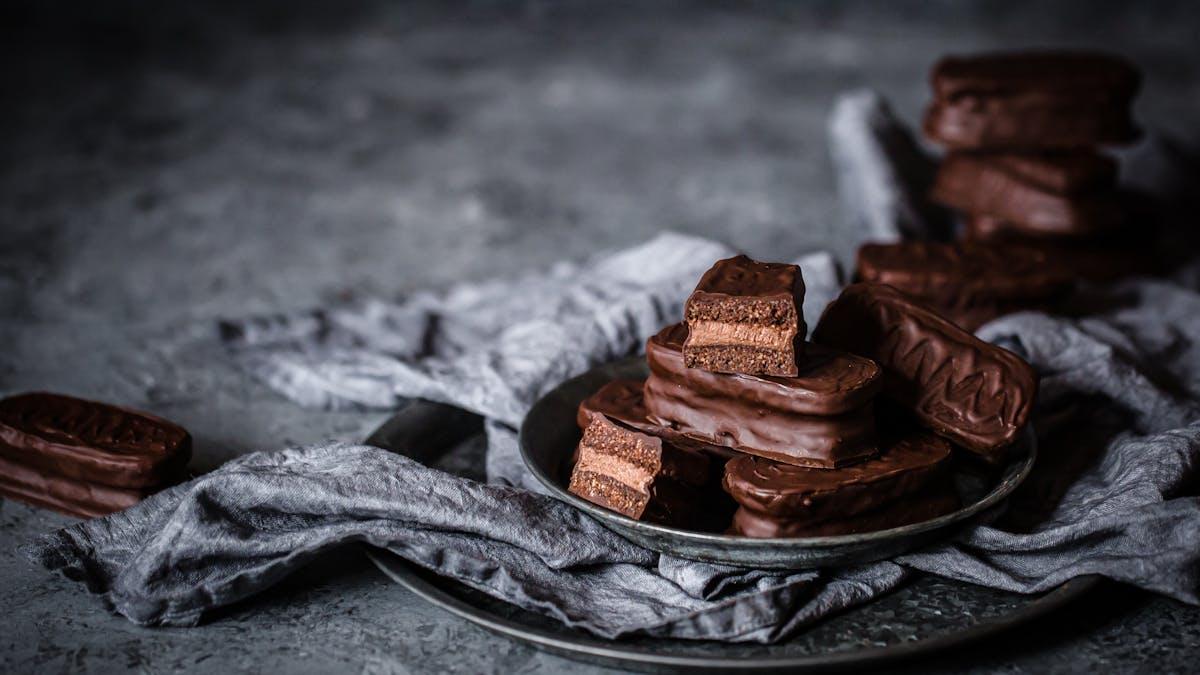 Tim tams de chocolate low-carb