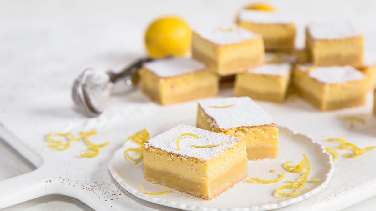 Pastelitos keto de limón