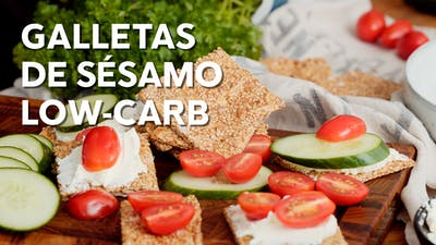 Galletas de sésamo low-carb