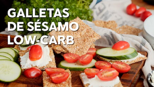 Galletas de sésamo low-carb