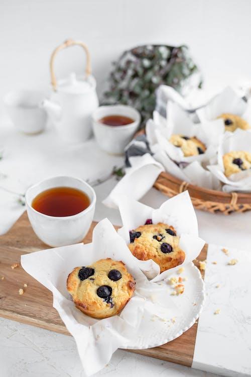 Muffins low-carb de arándanos