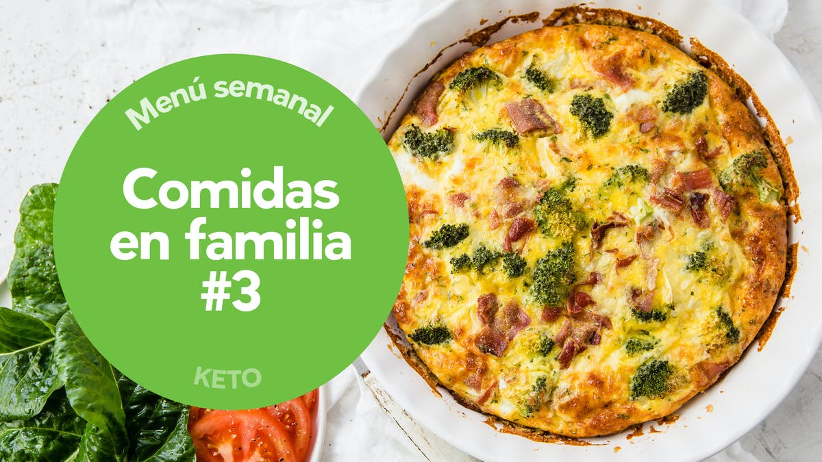 Menú keto: en familia