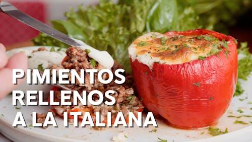 Pimientos rellenos a la italiana