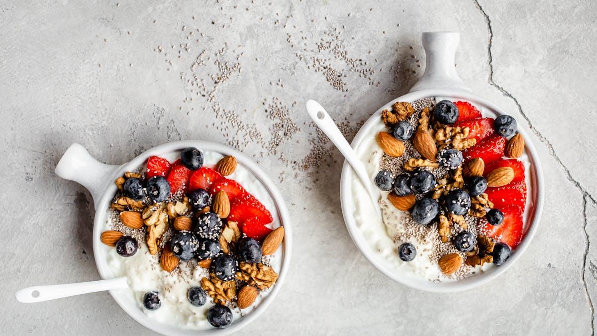 Tazón de desayuno con requesón