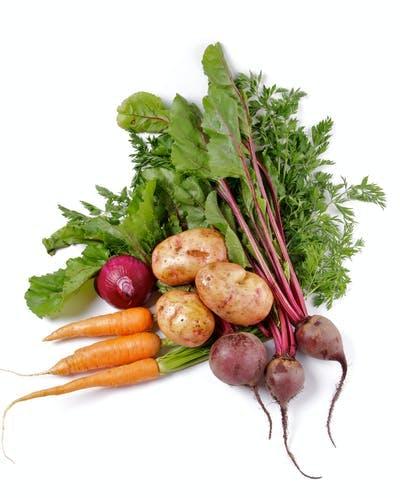 Verduras almidonadas