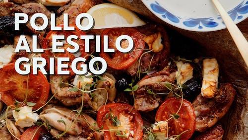 Pollo al estilo griego