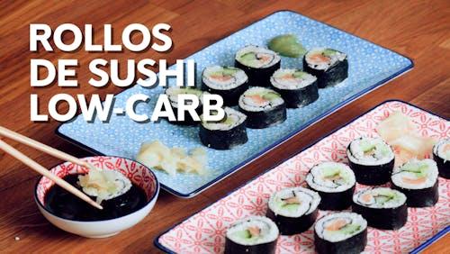Rollos de sushi low-carb