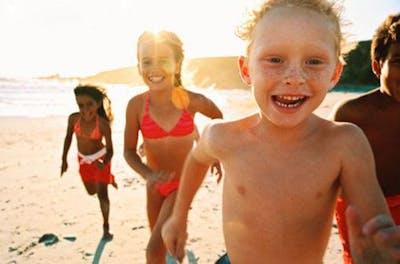 Barn på sommaren