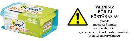 Becel bötfälls - behöver varningstext