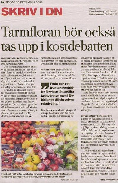 DN om kostdebatt och tarmflora