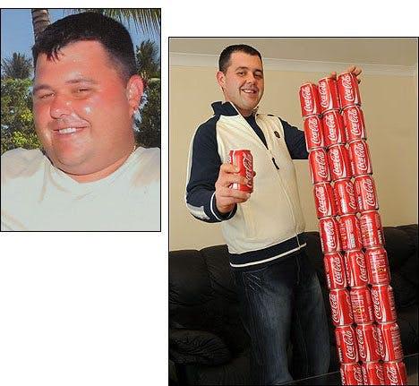 Före och efter Coca Cola